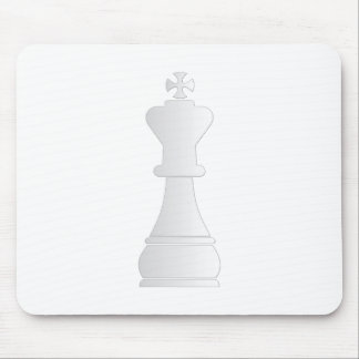 White king chess piece mouse pads