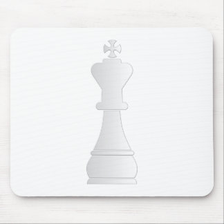 White king chess piece mousepads