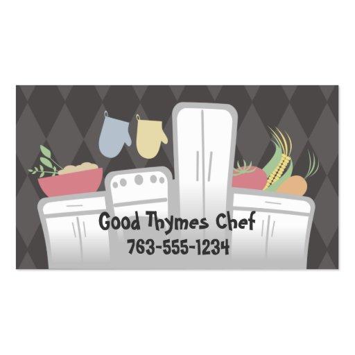 white kitchen appliances vegetables herbs cooki... business card