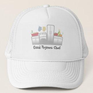 white kitchen appliances vegetables herbs cooki... trucker hat