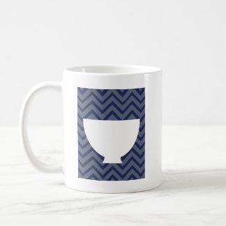 White Kitchen - Bowl on chevron. Coffee Mug