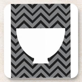 White-Kitchen - bowl on chevron Coasters