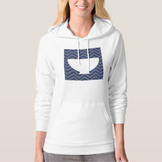 White Kitchen - Bowl on chevron. Hoodie