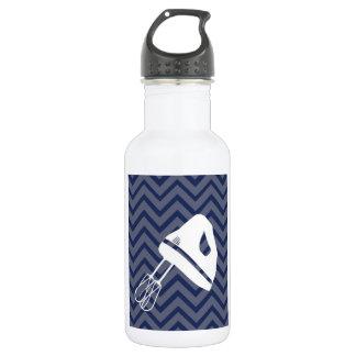 White-Kitchen - Hand mixer on chevron. 18oz Water Bottle