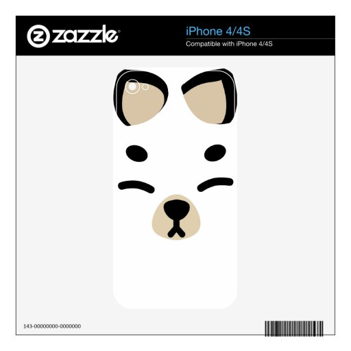 White Kitsune Fox Skins For The iPhone 4S