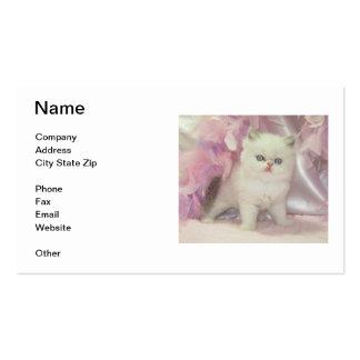 White Kitten Business Card