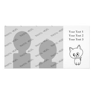 White Kitten. Card