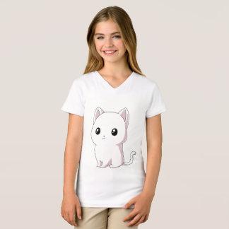 White kitten Kawaii T-Shirt