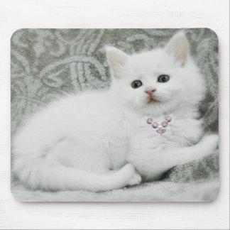White Kitten Mousepad