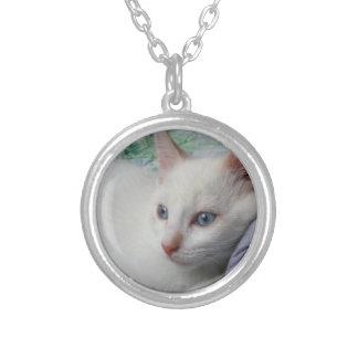 White Kitten Necklace