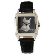 White Kitten Photo Template Animal Lovers Watch