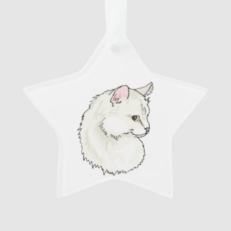White Kitty Cat Face