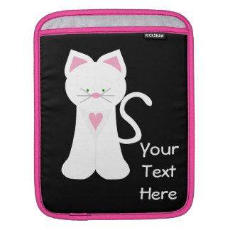 White Kitty Cat iPad Sleeves
