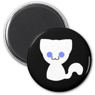 White Kitty Magnet