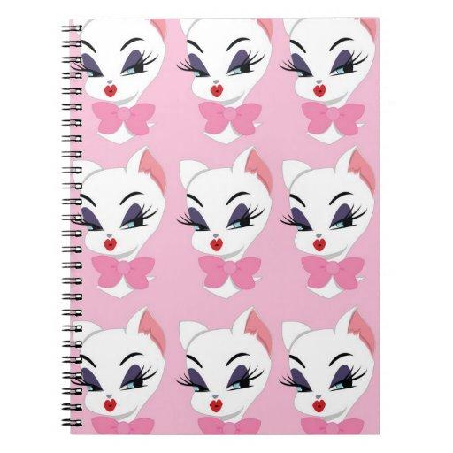 White Kitty Notebook