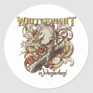 White Knight Carnivale Style (Gold Version) Classic Round Sticker