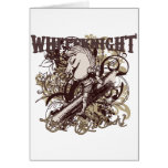 White Knight Carnivale Style Greeting Card