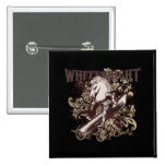 White Knight Carnivale Style Pinback Buttons