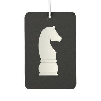 White knight chess piece air freshener