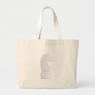White Knight Chess piece Jumbo Tote Bag