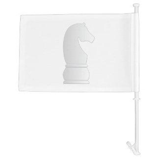 White knight chess piece car flag
