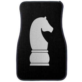 White knight chess piece car mat