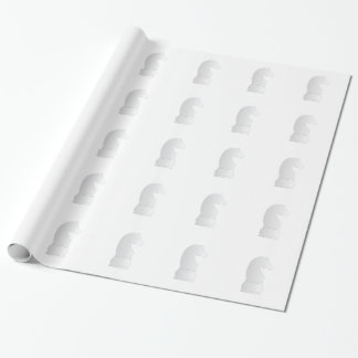 White Knight Chess piece Wrapping Paper