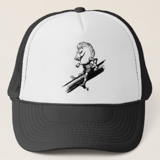 White Knight Inked Black Trucker Hat