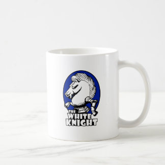 White Knight Logo Blue Mug