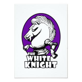 White Knight Logo Purple Card