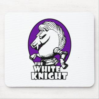 White Knight Logo Purple Mouse Pad