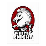 White Knight Logo Red Postcard