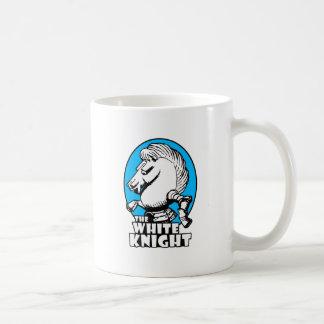 White Knight Logo Sky Blue Coffee Mug