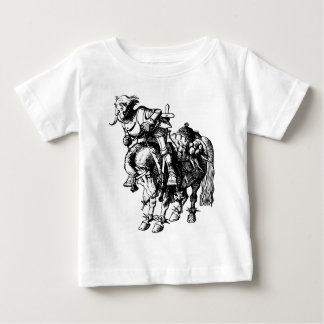 White Knight Tumbling Off His Horse Inked Black Baby T-Shirt