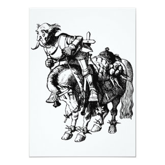 White Knight Tumbling Off His Horse Inked Black Card