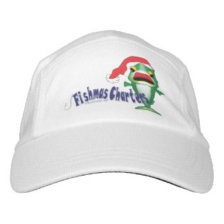 White Knit Fishmas Charters Baseball Hat