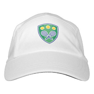 White knit tennis hats for pro players and coach