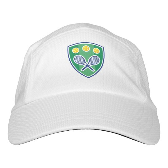 White knit tennis hats for pro players and coach  4d400527c9d