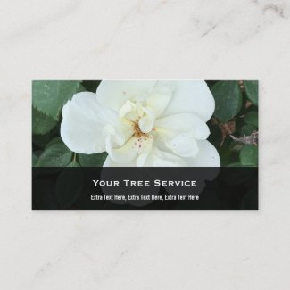 White Knock Out Rose Business Card