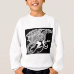 White Knotwork Dragon on Black Sweatshirt