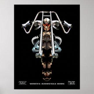 White Knuckle Ride, fantasy Medieval ghost biker Poster