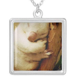 White Koala Bear Sterling Silver Necklace