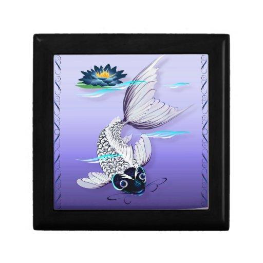 White Koi-Blue Lily Gift Box