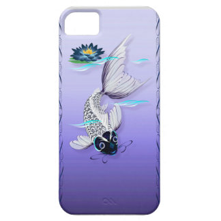 White Koi-Blue Lily iPhone 5 Case