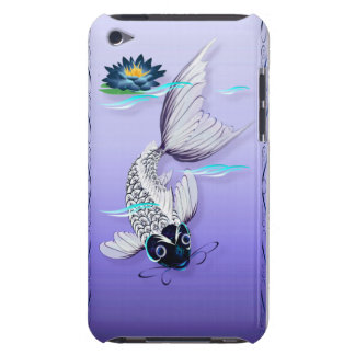 White Koi-Blue Lily  iPod Touch Cover
