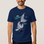 White Koi-Blue Lily  T-Shirts