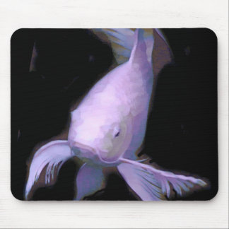 White Koi under Lights Mouse Pad