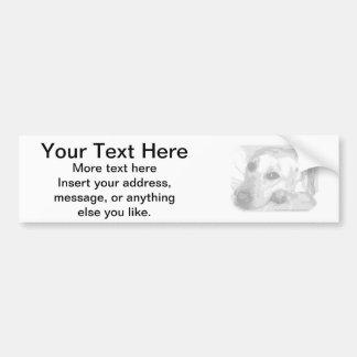 White Lab Graphic Car Bumper Sticker
