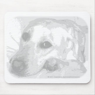 White Lab Graphic Mouse Pad