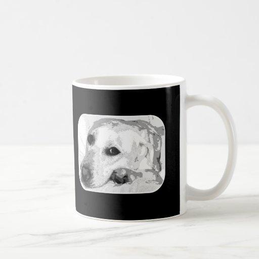 White Lab Graphic Mugs